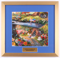 "Thomas Kinkade Walt Disney's ""Alice in Wonderland"" 17.5x18 Custom Framed Print"