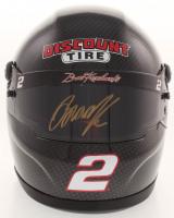 Brad Keselowski Signed NASCAR DIscount Tire 1:3 Scale Mini-Helmet (PA COA)