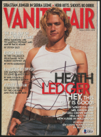 Heath Ledger Signed 2000 Vanity Fair Magazine (Beckett LOA)