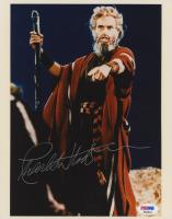 "Charlton Heston Signed ""The Ten Commandments"" 8x10 Photo (PSA COA)"