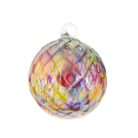 "Glass Eye Studios ""Ornament (Rainbow Diamond Facet)"" Hand Blown Glass Sculpture at PristineAuction.com"