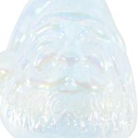 "Glass Eye Studios ""Ornament (Santa White)"" Hand Blown Glass Sculpture at PristineAuction.com"