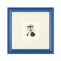 """Pepe Le Pew"" Limited Edition 9x9 Custom Framed Etching with Hand-Tinted Color at PristineAuction.com"