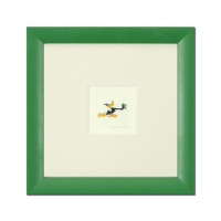 """Daffy Duck (Running)"" Limited Edition 9x9 Custom Framed Etching with Hand-Tinted Color"