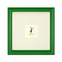 """Daffy Duck (Looking to the Side)"" Limited Edition 9x9 Custom Framed Etching with Hand-Tinted Color"