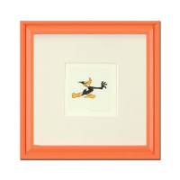 """Daffy Duck (Running)"" Limited Edition 9x9 Custom Framed Etching with Hand-Tinted Color at PristineAuction.com"