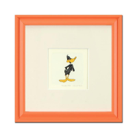 """Daffy Duck"" Limited Edition 9x9 Custom Framed Etching with Hand-Tinted Color at PristineAuction.com"