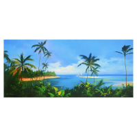 "H. Leung Signed ""Enter to Paradise"" Limited Edition 45x20 Giclee on Canvas at PristineAuction.com"