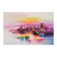 "H. Leung Signed ""San Francisco at Dusk"" Limited Edition 29x19 Giclee on Canvas at PristineAuction.com"