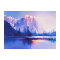 "H. Leung Signed ""Glacier Lake"" Limited Edition 35x26 Giclee on Canvas at PristineAuction.com"