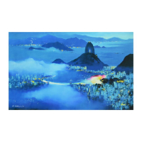 "H. Leung Signed ""Rio at Dusk"" Limited Edition 45x28 Giclee on Canvas at PristineAuction.com"