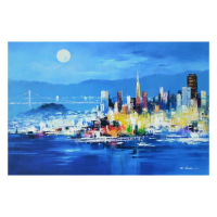 "H. Leung Signed ""The City Nights"" Limited Edition 36x24 Giclee on Canvas at PristineAuction.com"