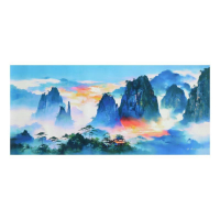 "H. Leung Signed ""About The Blue"" Limited Edition 45x20 Giclee on Canvas at PristineAuction.com"