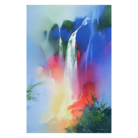 "Thomas Leung Signed ""Tranquil Falls"" Limited Edition 30x45 Giclee on Canvas at PristineAuction.com"