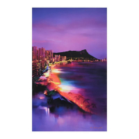 "H. Leung Signed ""Waikiki Night"" Limited Edition 24x40 Giclee on Canvas at PristineAuction.com"