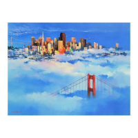 "H. Leung Signed ""San Francisco Dreaming"" Limited Edition 40x30 Giclee on Canvas at PristineAuction.com"