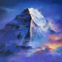 "Thomas Leung Signed ""Mountain Top"" Limited Edition 48x36 Giclee on Canvas at PristineAuction.com"