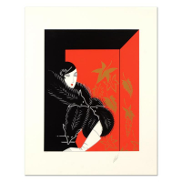 "Erte Signed ""Furs"" Limited Edition 30x24 Serigraph at PristineAuction.com"
