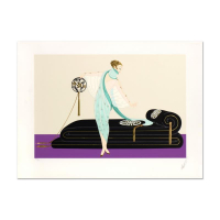 "Erte Signed ""Salon"" Limited Edition 30x21 Embossed Serigraph at PristineAuction.com"