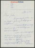 Joe DiMaggio Signed Hand-Written Letter with Envelope (PSA LOA)