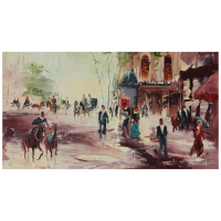 "Shalva Phachoshvili Signed ""Dressing Formal"" 23x13 Original Oil on Canvas at PristineAuction.com"