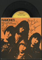 "The Ramones ""Baby, I Love You / High Risk Insurance"" Vinyl Singles Album Signed by (5) with CJ Ramone, Dee Dee Ramone, Marky Ramone, Johnny Ramone, & Joey Ramone (Beckett LOA)"