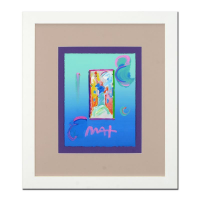 "Peter Max Signed ""Statue of Liberty"" 18x21 Custom Framed One-Of-A-Kind Acrylic Mixed Media"