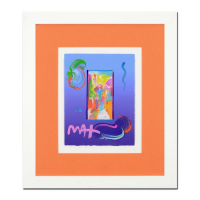 "Peter Max Signed ""Statue of Liberty"" 18x21 Custom Framed One-Of-A-Kind Acrylic Mixed Media at PristineAuction.com"