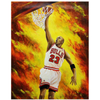 "Turchinsky Dimitry Signed ""Easy Dunk"" 30x24 Original Oil on Canvas at PristineAuction.com"