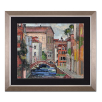 "Alex Zwarenstein Signed ""Angelo Canal"" 30x26 Custom Framed Original Oil Painting on Canvas at PristineAuction.com"