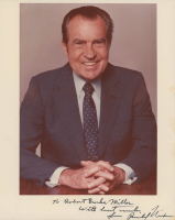 """Richard Nixon Signed 8x10 Photo Inscribed """"With Best Wishes"""" (Beckett LOA)"""