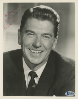 "Ronald Reagan Signed 8x10 Photo Inscribed ""With Best Wishes"" (Beckett LOA)"