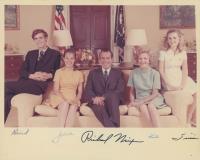 Pat Nixon, Julie Nixon, Tricia Nixon, & David Eisenhower Signed 8x10 Photo (Beckett LOA)