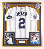 Derek Jeter Signed 32x36 Custom Framed Cut Display (JSA COA) at PristineAuction.com