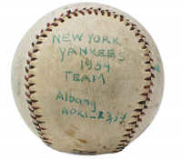 1934 New York Yankees Baseball Multi-Signed by (11) with Babe Ruth, Lou Gehrig, Jimmie DeShong, Ben Chapman, Russ Van Atta & Dixie Walker with Display Case (PSA LOA) at PristineAuction.com