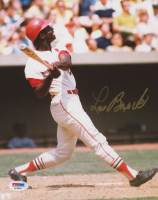 Lou Brock Signed St. Louis Cardinals 8x10 Photo (PSA COA)