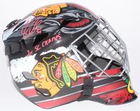 "Corey Crawford Signed Chicago Blackhawks Full-Size Goalie Mask Inscribed ""2x SC Champs"" (Schwartz COA)"