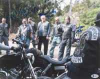 """""""Sons of Anarchy"""" 11x14 Photo Signed by (6) with Tommy Flanagan, Theo Rossi, Mark Boone Jr., David Labrava, Ryan Hurst, & William Lucking with Inscriptions (Beckett LOA)"""