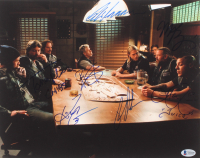 """Sons of Anarchy"" 11x14 Photo Signed by (7) with Charlie Hunnam, Tommy Flanagan, Theo Rossi, Mark Boone Jr., Ron Perlman, Ryan Hurst, & Kim Coates with Inscriptions (Beckett LOA)"