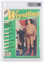 Andre The Giant Signed 1980 The Ring's Wrestling Magazine (BGS Encapsulated)