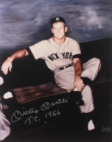 "Mickey Mantle Signed New York Yankees 16x20 Photo Inscribed ""T.C. 1956"" (Beckett LOA) at PristineAuction.com"