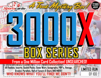 """MYSTERY 3000X SERIES"" A True Sports Card Mystery Box!"