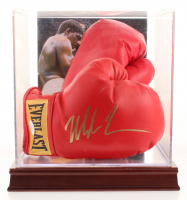 Mike Tyson Signed Everlast Boxing Glove Pair with Display Case (JSA COA)