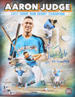 "Aaron Judge Signed ""2017 Home Run Derby Champion"" 11x14 Photo Inscribed ""2017 HR Derby Champ"" (Beckett LOA)"