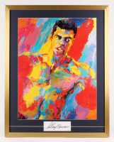 "Leroy Neiman Signed ""Muhammad Ali"" 27x34 Custom Framed Cut Display (JSA COA)"