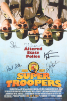 Super Troopers 12x18 Photo Signed by (5) With Jay Chandrasekhar, Kevin Heffernan, Steve Lemme, Paul Soter (Beckett LOA)