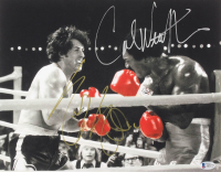 """Sylvester Stallone & Carl Weathers Signed """"Rocky"""" 11x14 Photo (Beckett LOA)"""