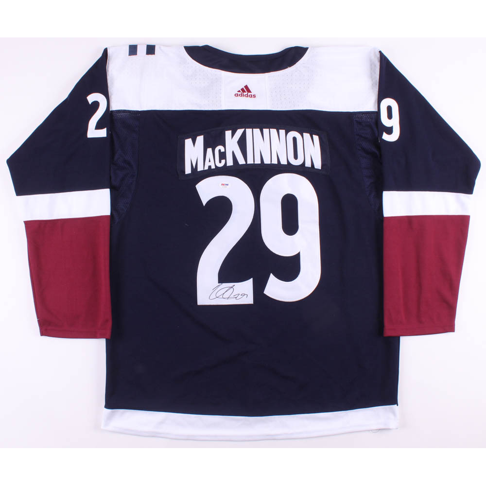 factory authentic ec141 9108a nathan mackinnon signed jersey