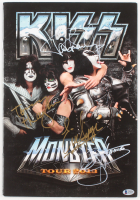 KISS Monster Tour 2013 Book Signed by (4) with Gene Simmons, Paul Stanley, Tommy Thayer, & Eric Singer (Beckett LOA)