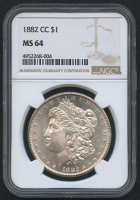 1882-CC $1 Morgan Silver Dollar (NGC MS 64)